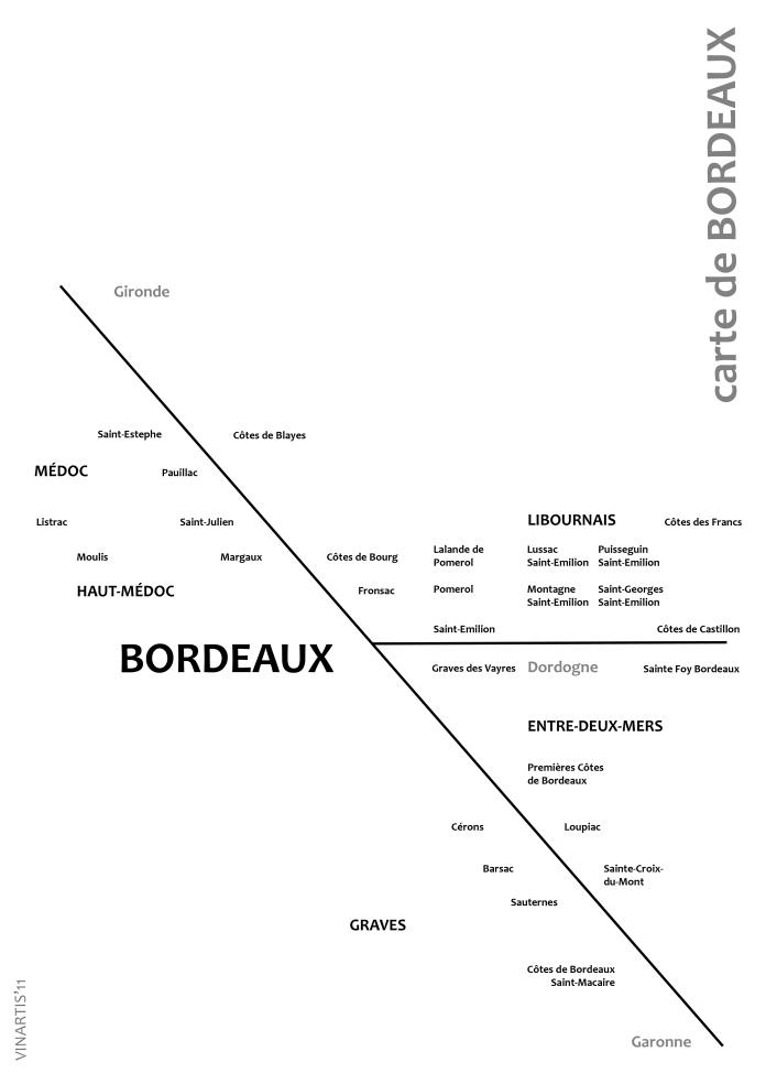 Map of Bordeaux nouvelle vague